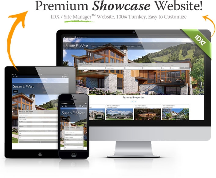Premium Showcase Website - IDX / Site Manager (TM) Website, 100% Turnkey, Easy to Customize
